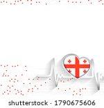 georgia patriotic background....   Shutterstock .eps vector #1790675606