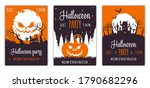 set of abstract halloween party ... | Shutterstock .eps vector #1790682296