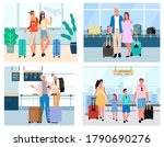 man and woman standing in... | Shutterstock .eps vector #1790690276