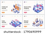 isometric cyber security... | Shutterstock .eps vector #1790690999