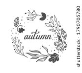 autumn text in a round frame of ... | Shutterstock .eps vector #1790705780