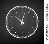 vector black and white chalk... | Shutterstock .eps vector #1790714339