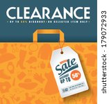 clearance sale poster | Shutterstock .eps vector #179072933