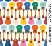 guitars seamless vector pattern.... | Shutterstock .eps vector #1790739110