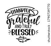 grateful thankful and truly... | Shutterstock .eps vector #1790739770