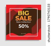big sale template design with... | Shutterstock .eps vector #1790743133