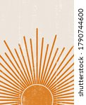 orange sun print boho... | Shutterstock .eps vector #1790744600