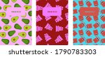 set of abstract modern cover... | Shutterstock . vector #1790783303