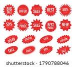 red sale starburst sticker set  ... | Shutterstock .eps vector #1790788046