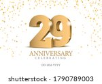 anniversary 29. gold 3d numbers.... | Shutterstock .eps vector #1790789003