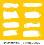 big collection of white paint ... | Shutterstock .eps vector #1790802539