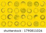 speed lines in circle form.... | Shutterstock .eps vector #1790811026