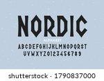 nordic style font design ... | Shutterstock .eps vector #1790837000