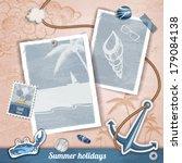 summer scrapbooking photo album | Shutterstock .eps vector #179084138