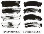 flat paint brush thin long  ... | Shutterstock .eps vector #1790843156