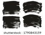flat paint brush thin long  ... | Shutterstock .eps vector #1790843159