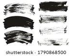 flat paint brush thin long  ... | Shutterstock .eps vector #1790868500