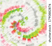 Red Tie Dye Swirl. Colorful...