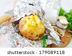 baked potato in the foil