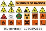 hazard and warning symbols ... | Shutterstock .eps vector #1790892896