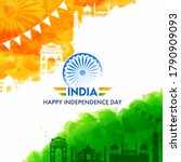 india happy independence day... | Shutterstock .eps vector #1790909093