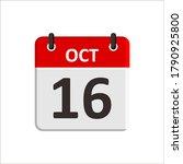 october 16 calendar icon.... | Shutterstock .eps vector #1790925800