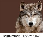 Wolf Low Poly Vector Art