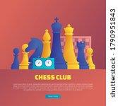 chess club web banner template. ... | Shutterstock .eps vector #1790951843