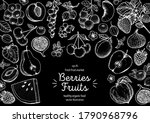 berries and fruits drawing... | Shutterstock .eps vector #1790968796