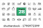 finance icons set. line  flat ... | Shutterstock .eps vector #1790972399