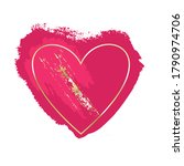 golden and pink brush strokes... | Shutterstock .eps vector #1790974706