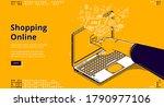 online shopping isometric... | Shutterstock .eps vector #1790977106