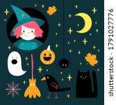 halloween illustrations set ...   Shutterstock .eps vector #1791027776