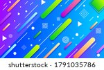 abstract colorful gradient... | Shutterstock .eps vector #1791035786