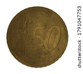 German 50 Cent Euro Coin Aged...