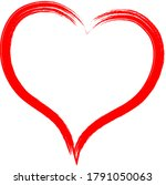 red heart   outline drawing for ... | Shutterstock .eps vector #1791050063