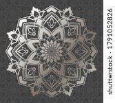 Metallic Mandala Pattern  Round ...