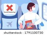 international air travel in a... | Shutterstock .eps vector #1791100730