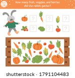 counting game with vegetables ... | Shutterstock .eps vector #1791104483