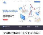 biotechnology isometric landing ...
