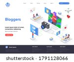 bloggers isometric landing page....
