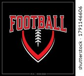white and red football insignia ... | Shutterstock .eps vector #1791146606
