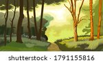forest. trees and shrubs....   Shutterstock . vector #1791155816