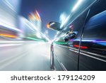 car on the road with motion... | Shutterstock . vector #179124209