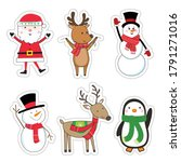 cute christmas character for... | Shutterstock .eps vector #1791271016