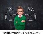 back to school. pupil with...   Shutterstock . vector #1791287693