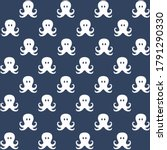 White Octopus With Blue...