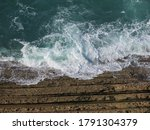 Rocky Cliff Eroded Due To The...