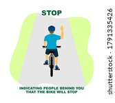 cycling rules for traffic... | Shutterstock .eps vector #1791335426