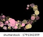 pink gold confetti circle... | Shutterstock .eps vector #1791342359